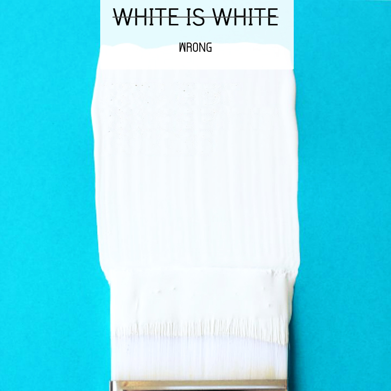 WHITE IS NOT WHITE