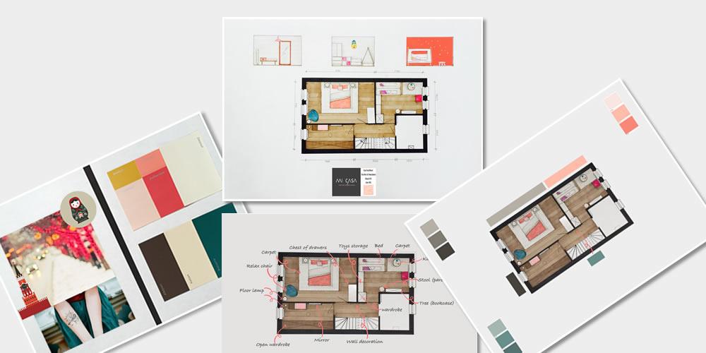 2D-drawings-tekeningen-Binnenhuis-architect-bedrooms