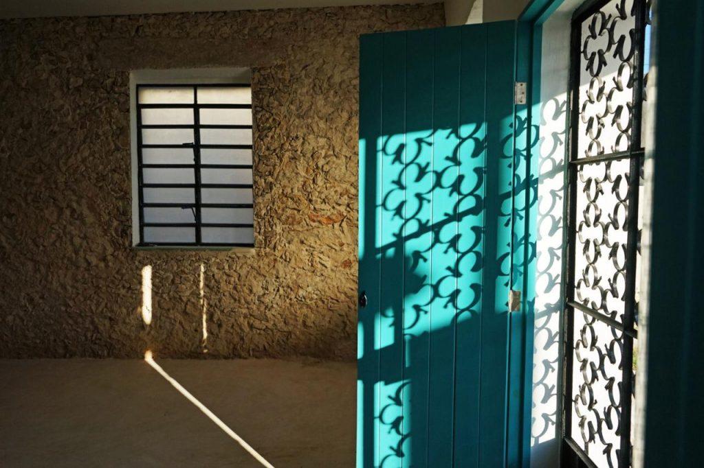 Blue mexican doors