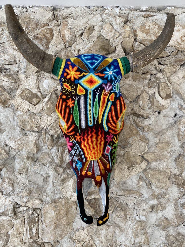 Hand painted steer skull