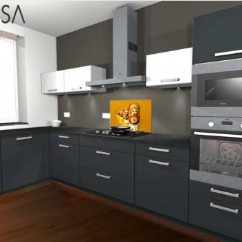 Kleur advies keuken. Kitchen colour advice. Antraciet Grijs Gray