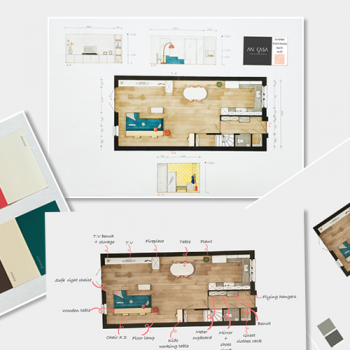 2D plattegrond uitleg Mi Casa Interieur Design