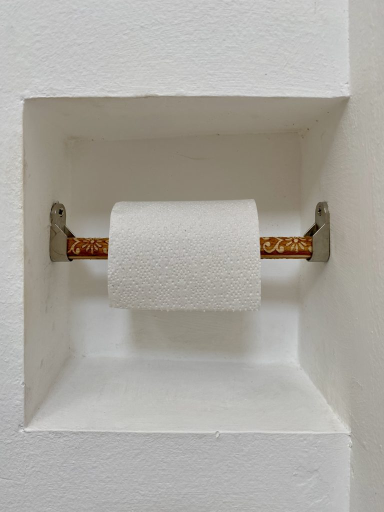 WC roll decorated
